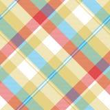 Yellow plaid tartan seamless pattern Royalty Free Stock Photo
