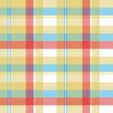Yellow plaid tartan seamless pattern Stock Photo