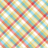 Yellow plaid tartan seamless pattern Stock Photos