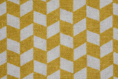 Yellow plaid on a white background Royalty Free Stock Photo