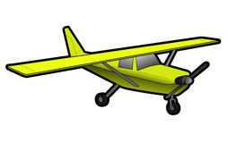 Yellow plane Royalty Free Stock Photo