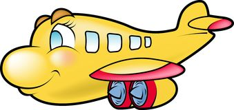Yellow Plane Royalty Free Stock Photography