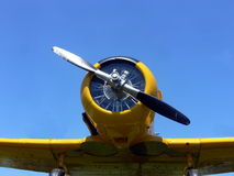 Yellow plane Stock Photo
