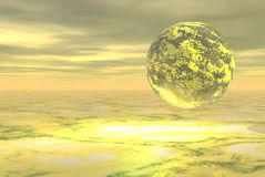 Yellow planet Royalty Free Stock Image