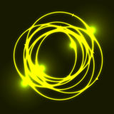 Yellow plasma circle effect background. Stock vector Royalty Free Stock Image