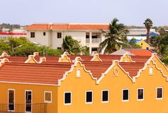 Yellow Plaster and Red Tile. Yellow Plaster Buildings and Red Tile Roofs royalty free stock photography