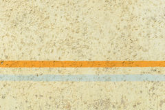 Yellow plaster wall texture with stripes Royalty Free Stock Photo