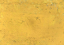 Yellow plastered wall Royalty Free Stock Photography