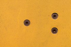 Yellow plastic background texture stock photo