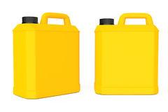 Yellow Plastic Blank Container. 3d Rendering Stock Images