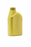 Yellow plastic blank containers Stock Photography