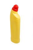 Yellow plastic bleach bottle Royalty Free Stock Photo