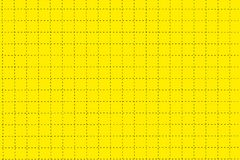 Yellow Plastic Board With Dotted Line Like As Graph Paper Stock Photos