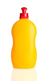 Yellow plastic bottle Stock Photos
