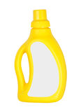 Yellow plastic bottle isolated Royalty Free Stock Photos