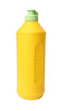 Yellow plastic bottle. Royalty Free Stock Photo