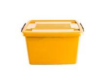 Yellow plastic box Stock Photography