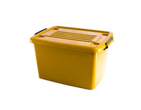 yellow plastic box Royalty Free Stock Photos