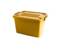 Yellow plastic box Royalty Free Stock Photos