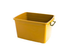 Yellow plastic box Royalty Free Stock Image
