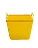 Yellow plastic bucket Royalty Free Stock Images