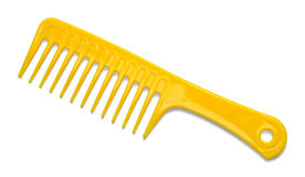 Yellow Plastic Comb Royalty Free Stock Photo