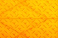 Yellow plastic construction background texture Royalty Free Stock Photo