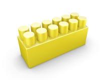 Yellow plastic construction element Stock Photos