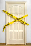 Yellow Plastic Crime Scene Royalty Free Stock Image