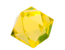Yellow plastic crystal Stock Photo