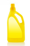 Yellow Plastic detergent bottle isolated on white Stock Photography