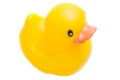 Yellow plastic duck Royalty Free Stock Photography