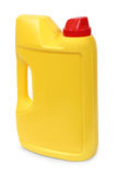 Yellow plastic gallon. Jerry can isolated on a white background Stock Photo