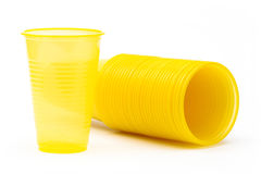 Yellow plastic glasses Royalty Free Stock Photography