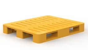 Yellow plastic pallet Royalty Free Stock Image