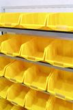 Yellow plastic racks Stock Photography