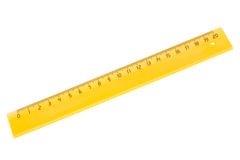 Yellow plastic ruler Stock Image