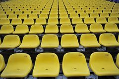 Yellow plastic seat Royalty Free Stock Photos