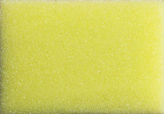 Yellow Plastic Sponge Foam Royalty Free Stock Photography