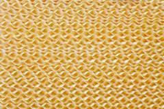Yellow plastic texture Stock Photos