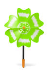 Yellow plastic toy windmill Royalty Free Stock Photo