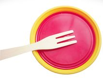Yellow plate Stock Photography