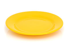 Yellow plate Stock Photos