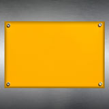 Yellow plate Stock Image