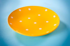 Yellow plate Stock Photos