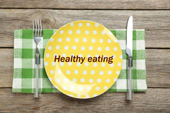 Yellow plate Royalty Free Stock Photos