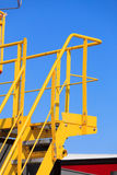 Yellow platform with steps, industry detail Stock Photography