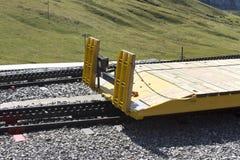 Yellow platform wagon - Kleine Scheidegg, Switzerland Stock Photography