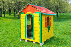Yellow play house Royalty Free Stock Image