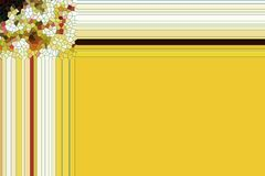 Yellow playful frame abstract background Royalty Free Stock Photo